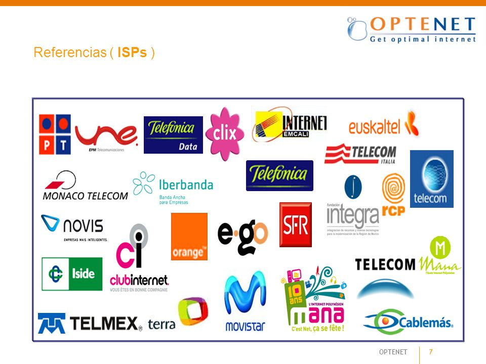 Referencias ( ISPs )