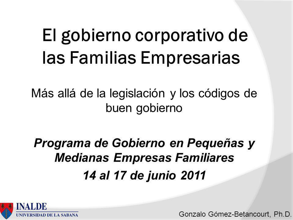 El gobierno corporativo de las Familias Empresarias