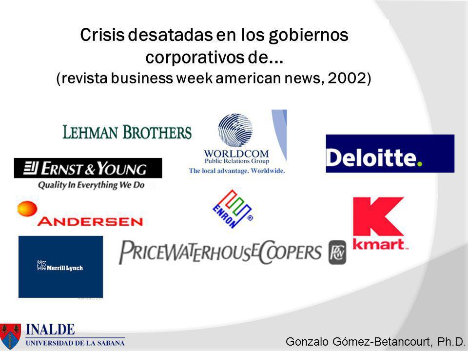 Crisis desatadas en los gobiernos corporativos de