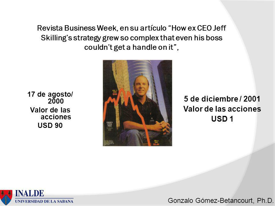 Revista Business Week, en su artículo How ex CEO Jeff Skilling's strategy grew so complex that even his boss couldn't get a handle on it ,