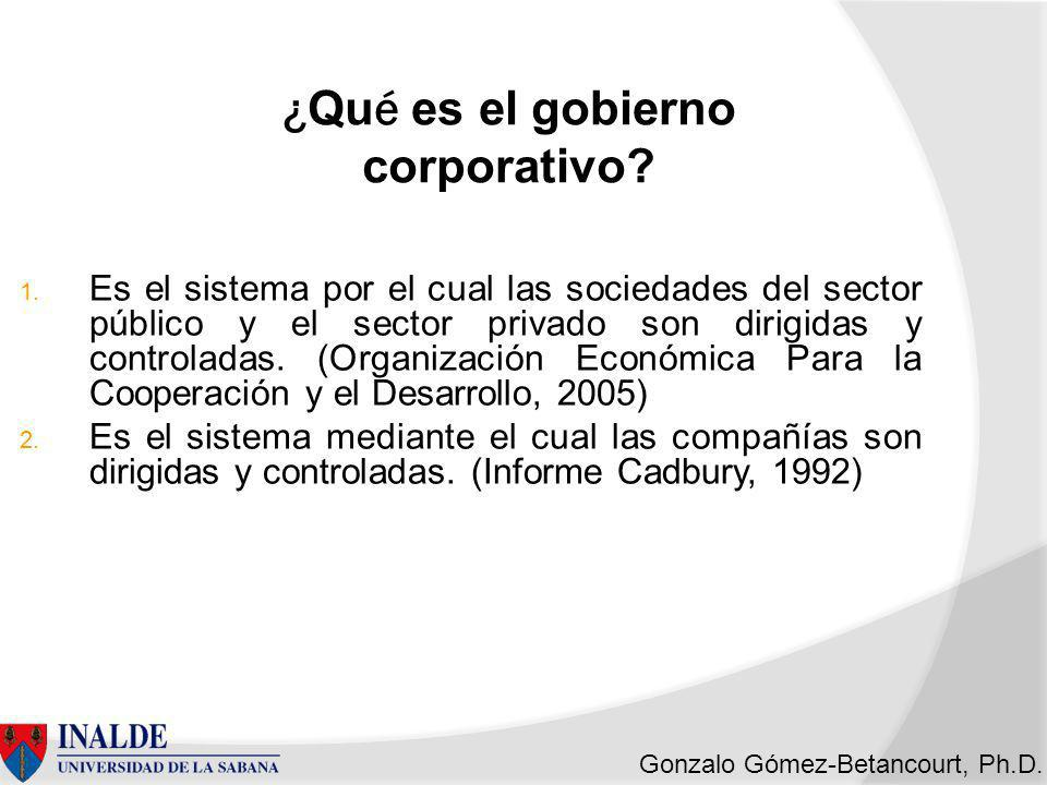 ¿Qué es el gobierno corporativo