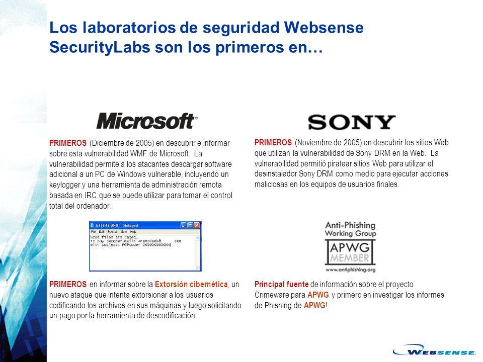 Los laboratorios de seguridad Websense SecurityLabs son los primeros en…