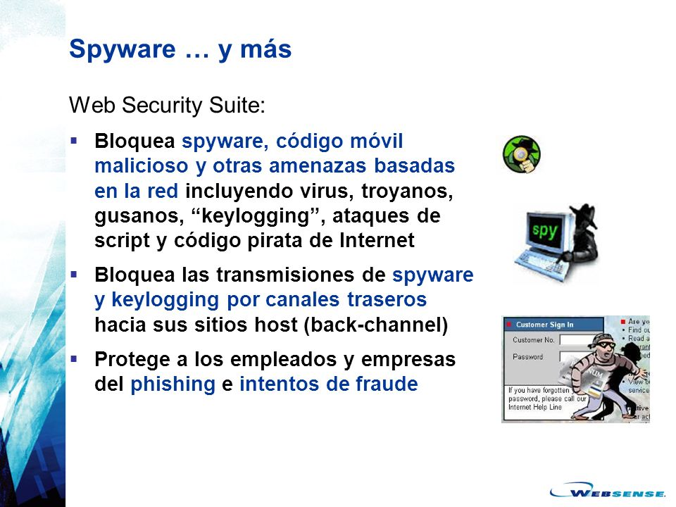 Spyware … y más Web Security Suite: