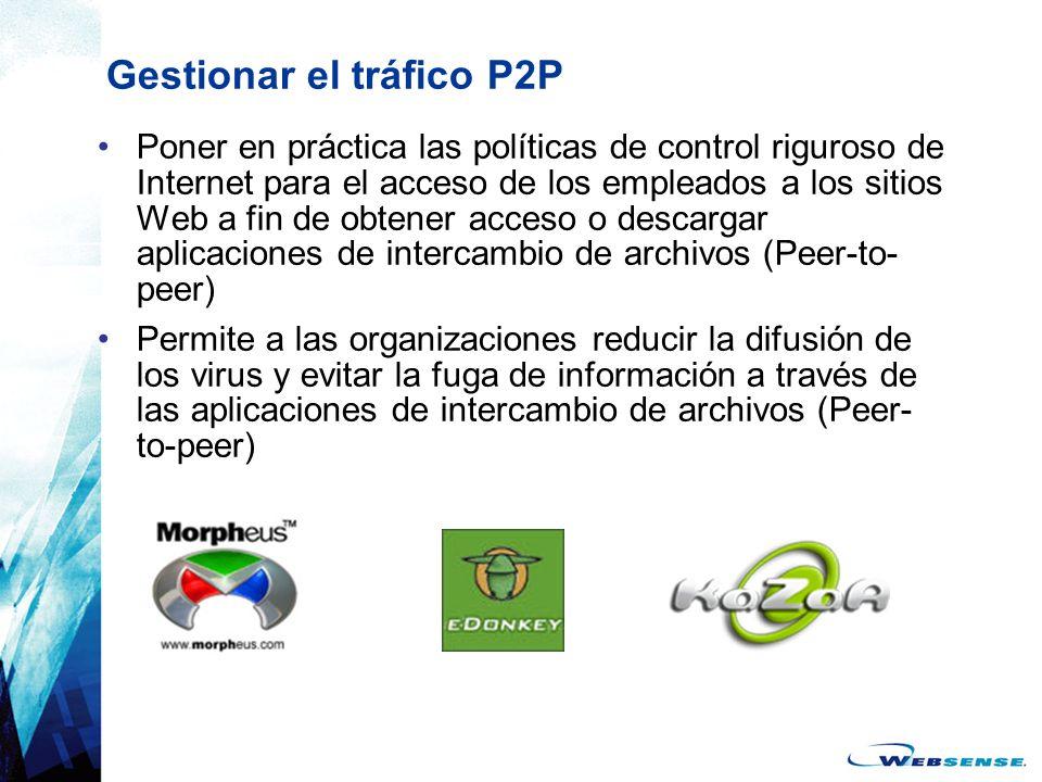 Gestionar el tráfico P2P