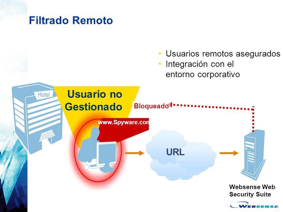 Filtrado Remoto Usuario no Gestionado URL Usuarios remotos asegurados