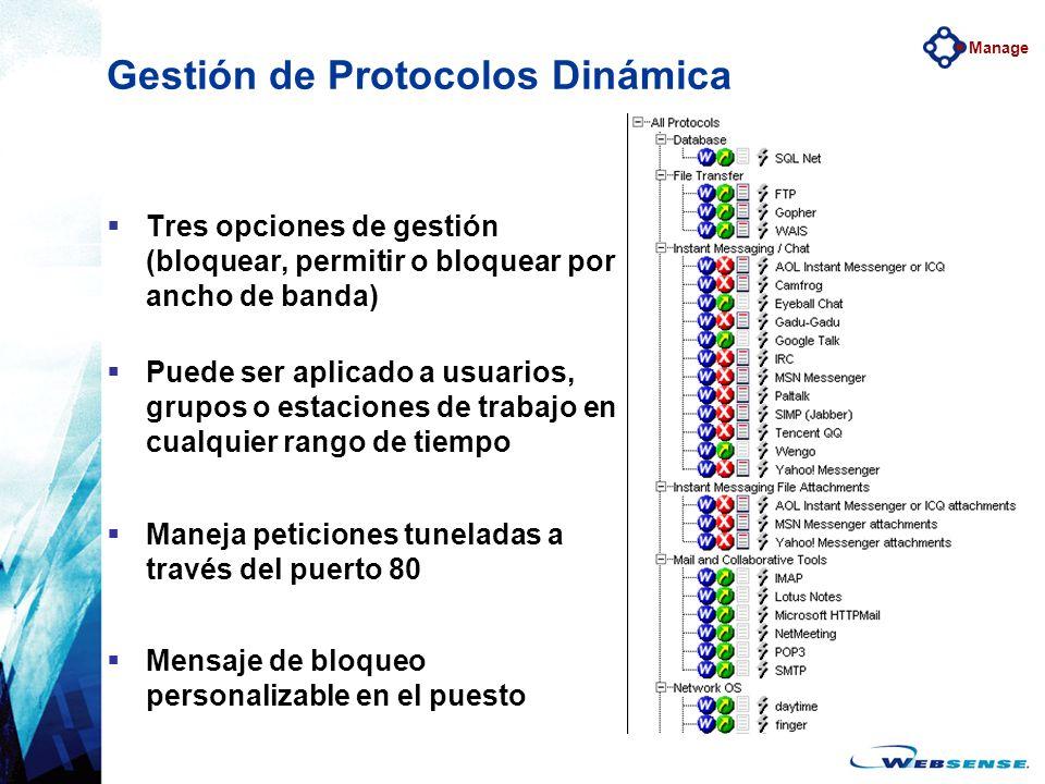 Gestión de Protocolos Dinámica