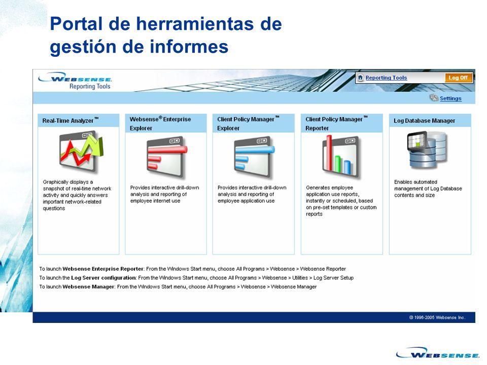 Portal de herramientas de gestión de informes