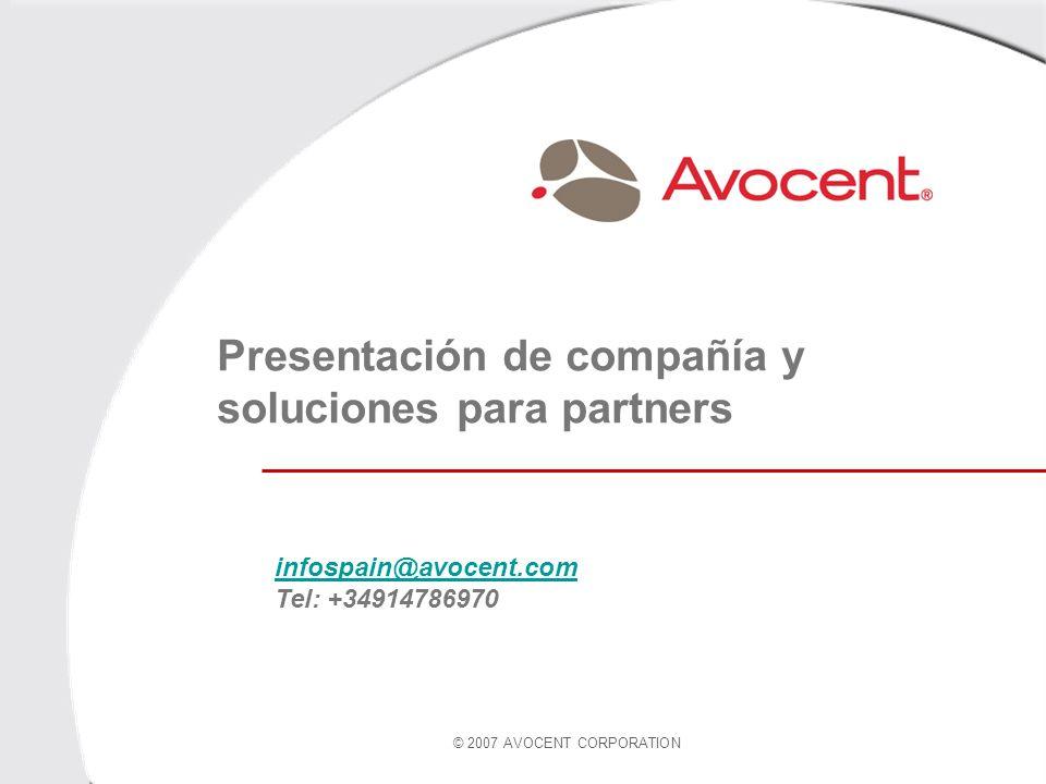 Presentación de compañía y soluciones para partners