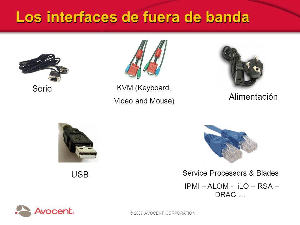Los interfaces de fuera de banda