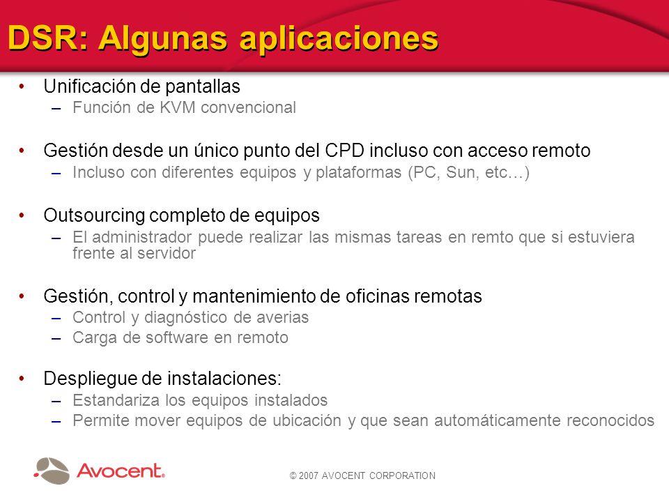 DSR: Algunas aplicaciones