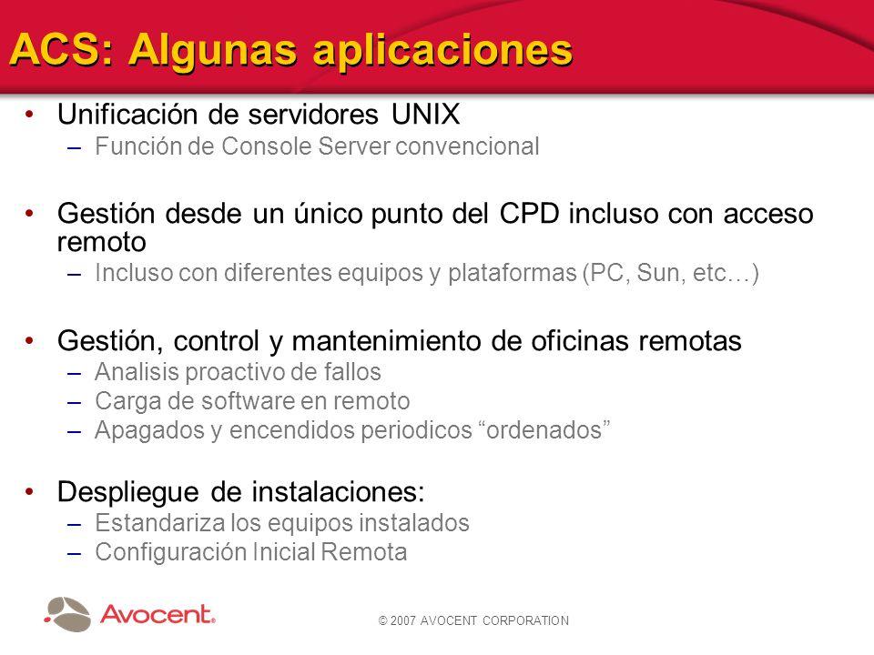 ACS: Algunas aplicaciones