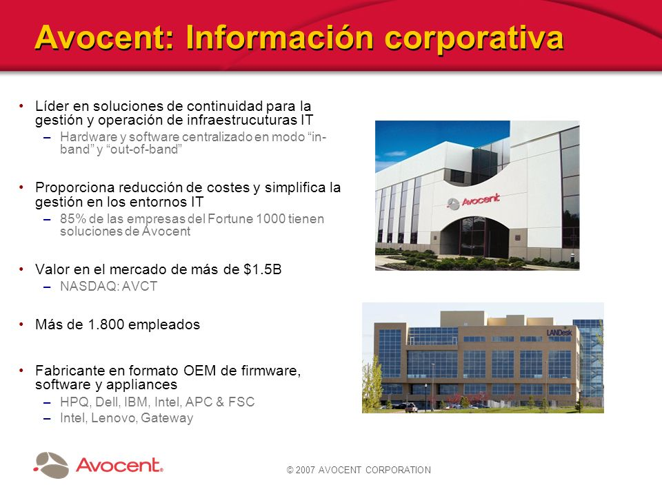 Avocent: Información corporativa