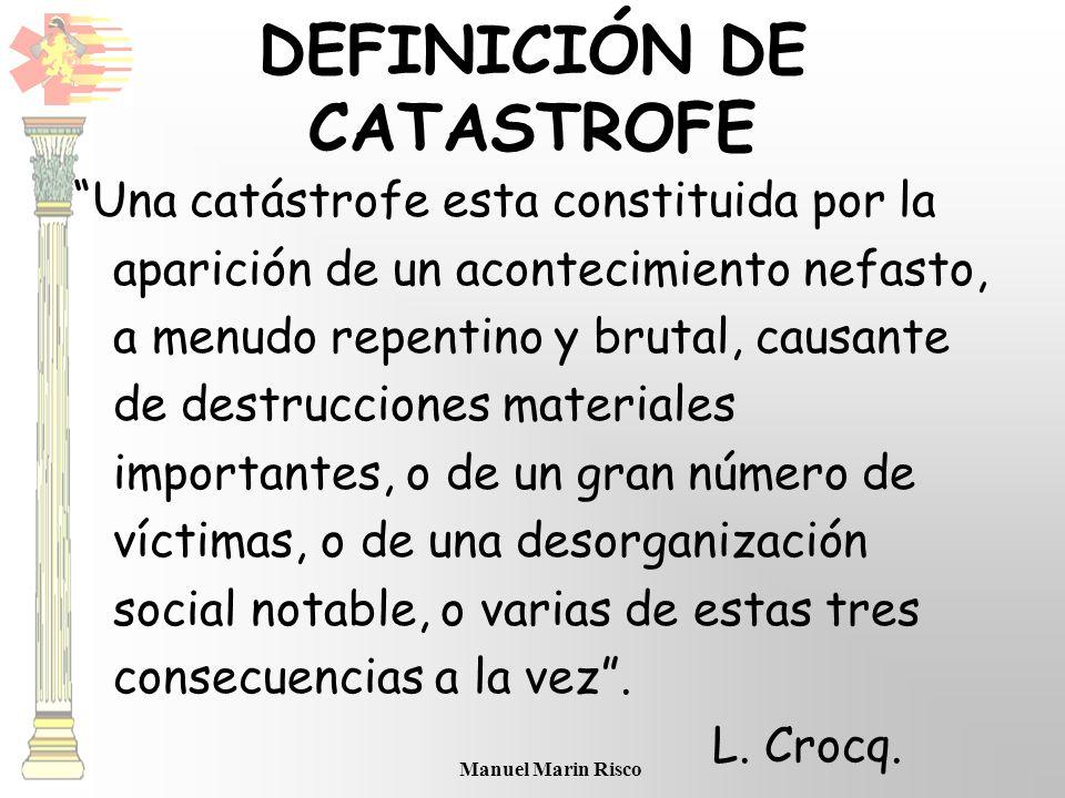 DEFINICIÓN DE CATASTROFE