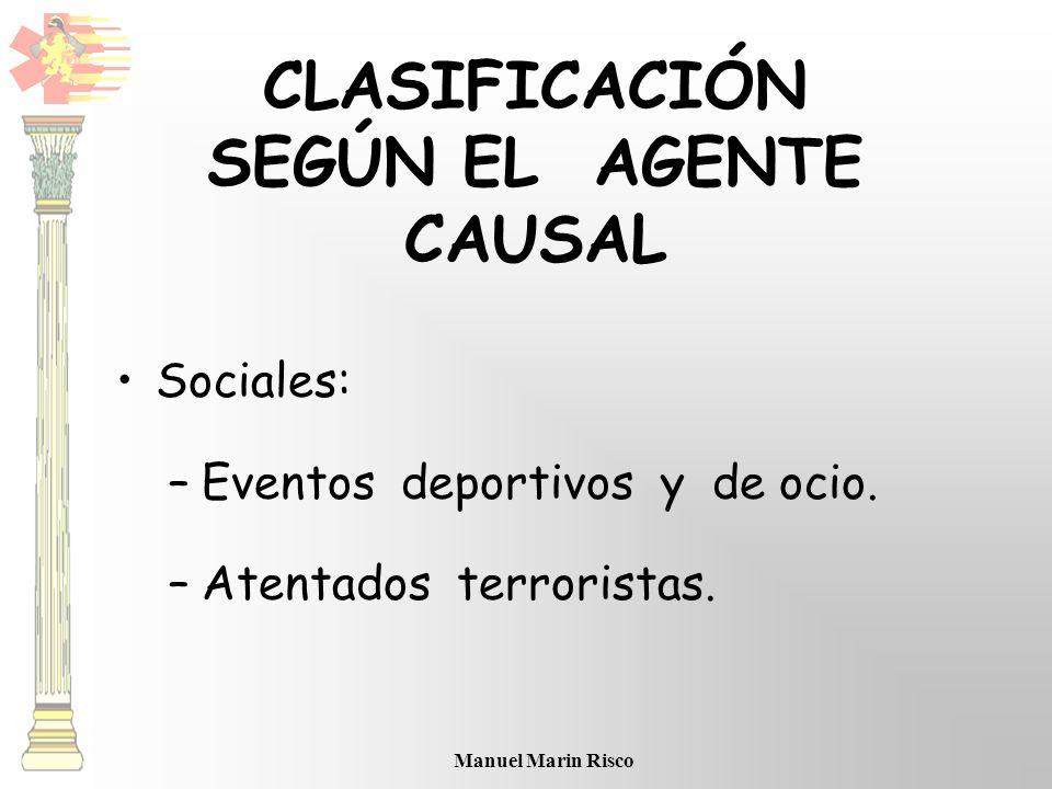 CLASIFICACIÓN SEGÚN EL AGENTE CAUSAL