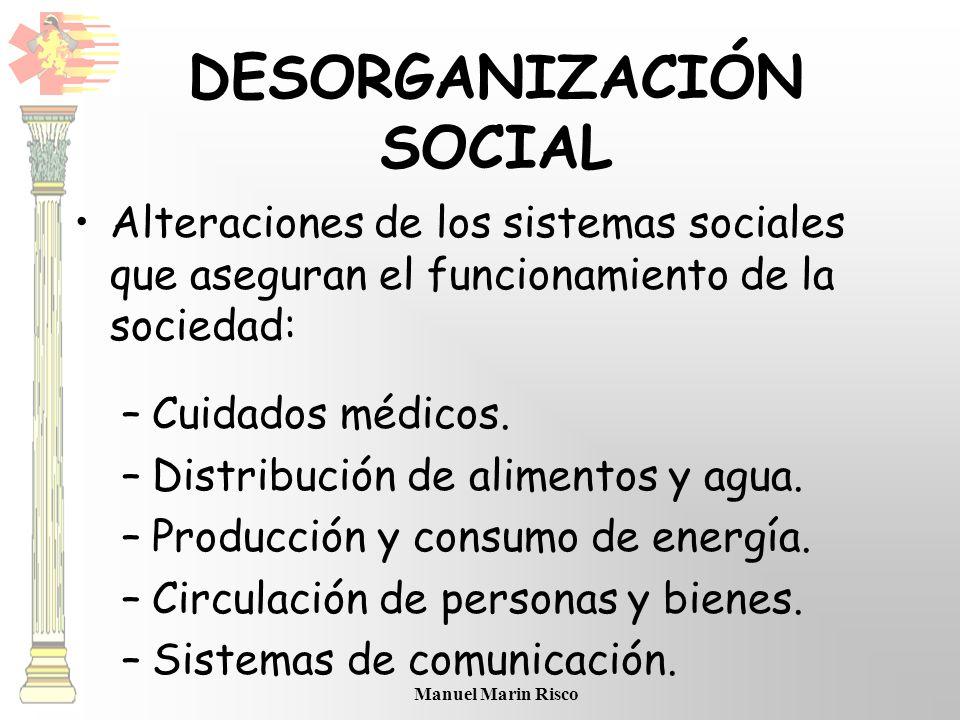 DESORGANIZACIÓN SOCIAL