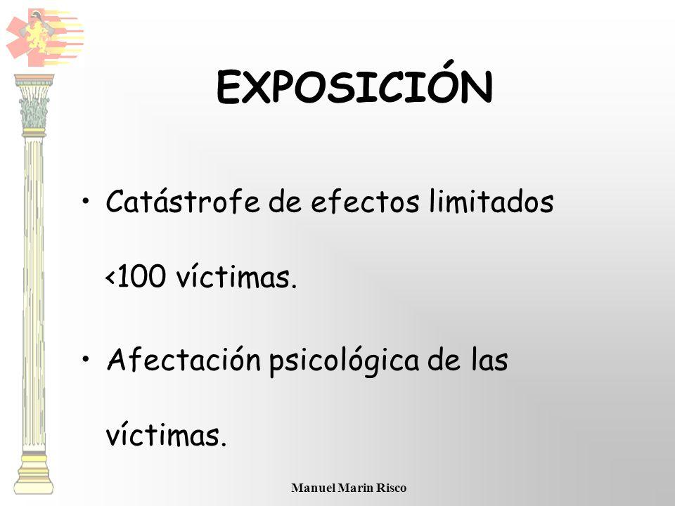 EXPOSICIÓN Catástrofe de efectos limitados <100 víctimas.