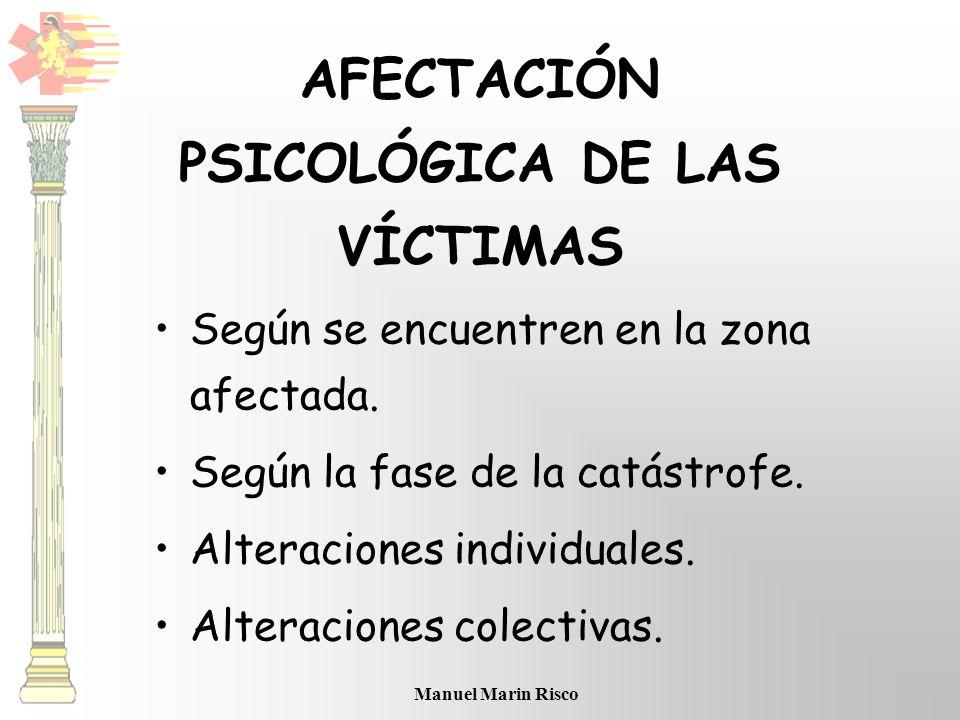 AFECTACIÓN PSICOLÓGICA DE LAS VÍCTIMAS