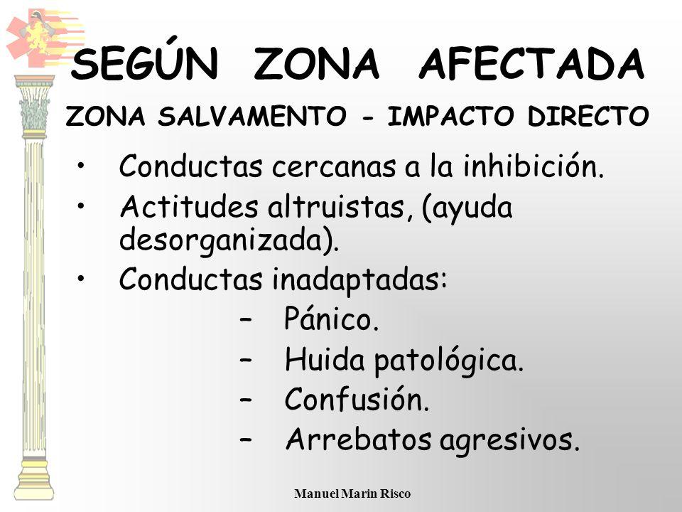 SEGÚN ZONA AFECTADA ZONA SALVAMENTO - IMPACTO DIRECTO