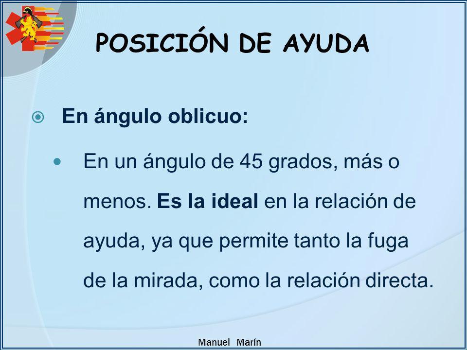 POSICIÓN DE AYUDA En ángulo oblicuo: