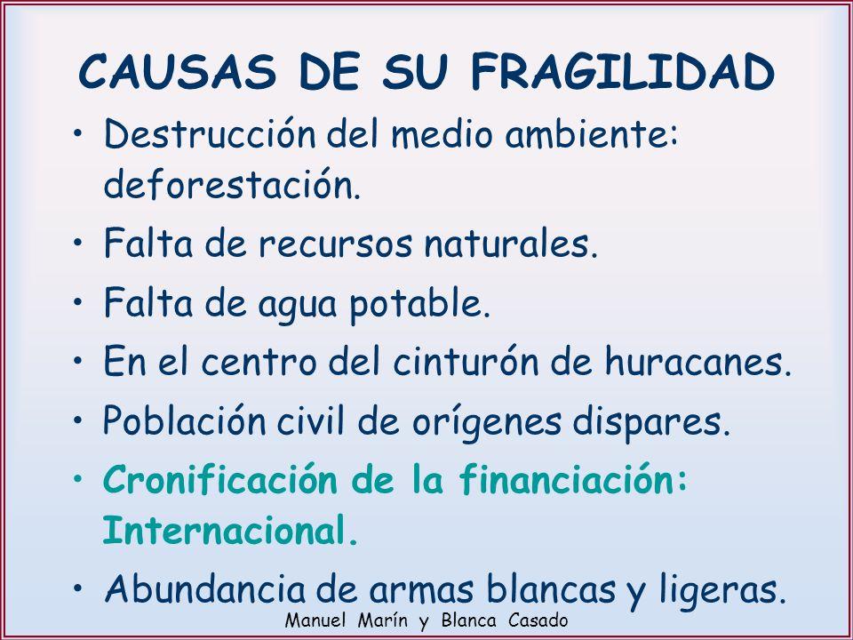 CAUSAS DE SU FRAGILIDAD