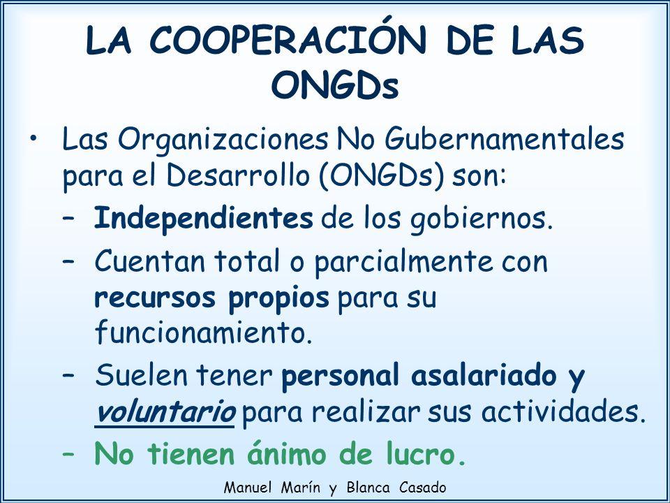 LA COOPERACIÓN DE LAS ONGDs