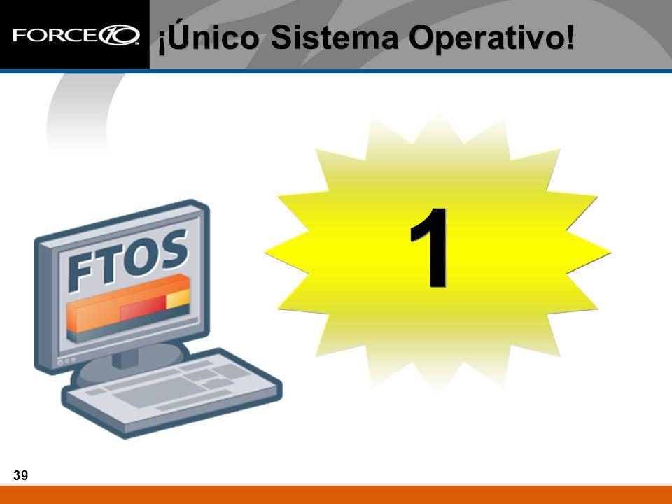 ¡Único Sistema Operativo!