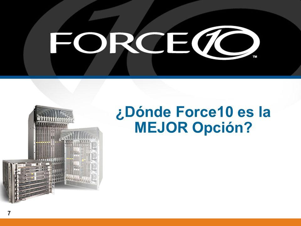 ¿Dónde Force10 es la MEJOR Opción