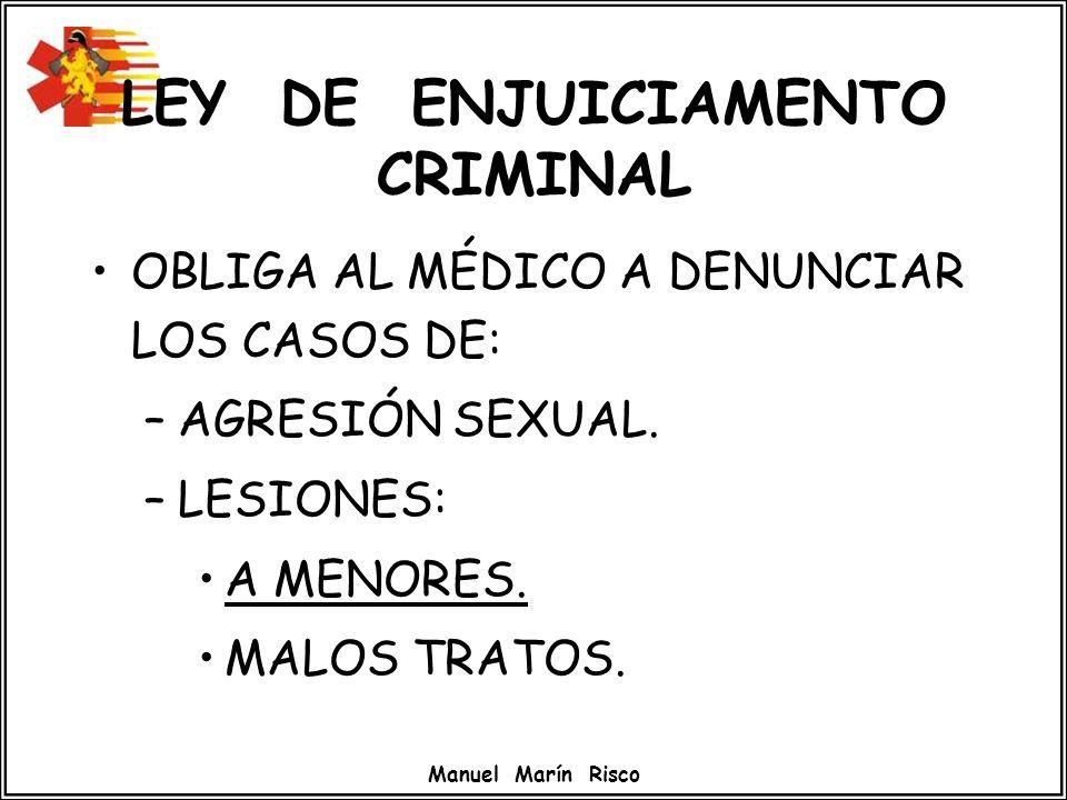 LEY DE ENJUICIAMENTO CRIMINAL