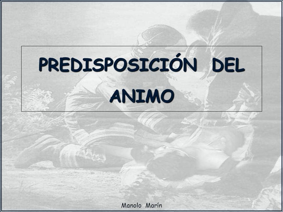 PREDISPOSICIÓN DEL ANIMO