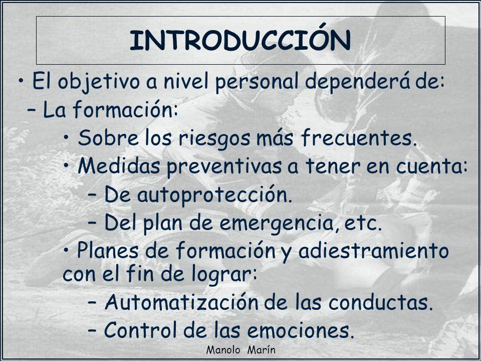 INTRODUCCIÓN El objetivo a nivel personal dependerá de: La formación: