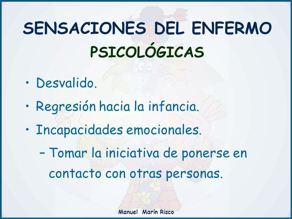 SENSACIONES DEL ENFERMO PSICOLÓGICAS