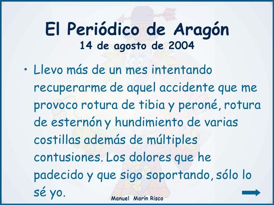 El Periódico de Aragón 14 de agosto de 2004