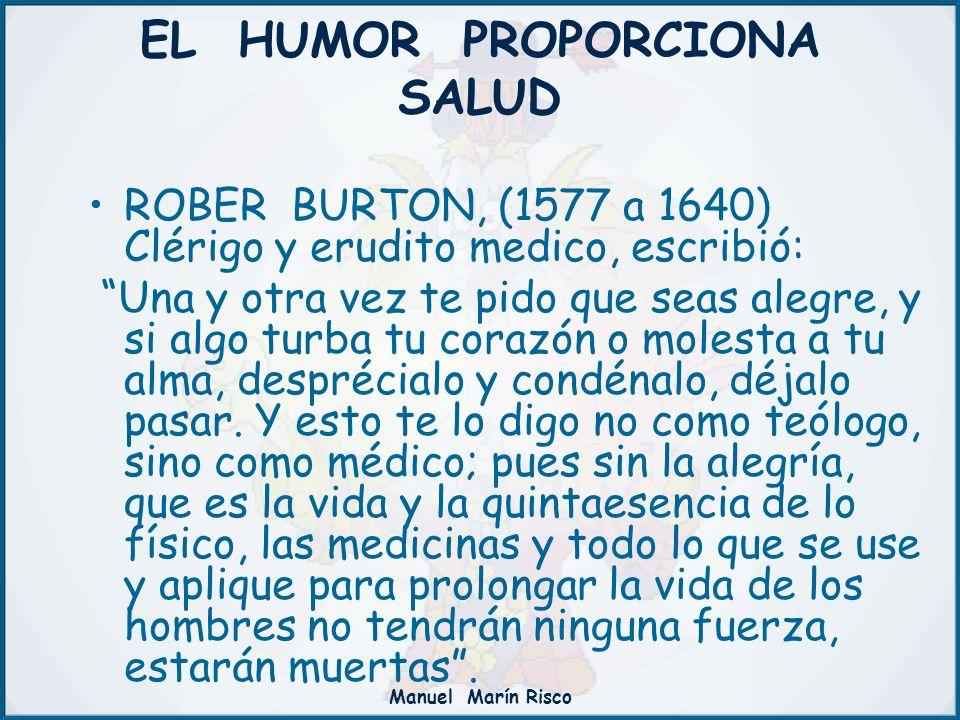 EL HUMOR PROPORCIONA SALUD