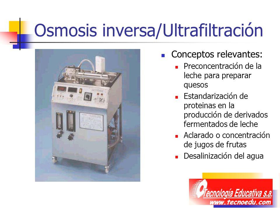 Osmosis inversa/Ultrafiltración