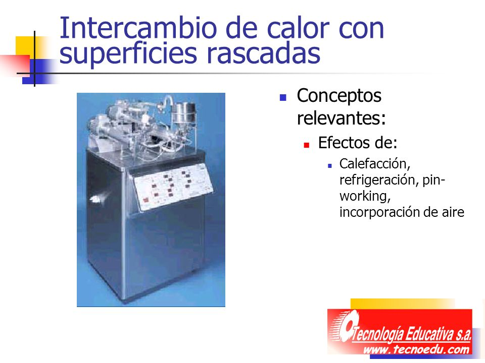 Intercambio de calor con superficies rascadas