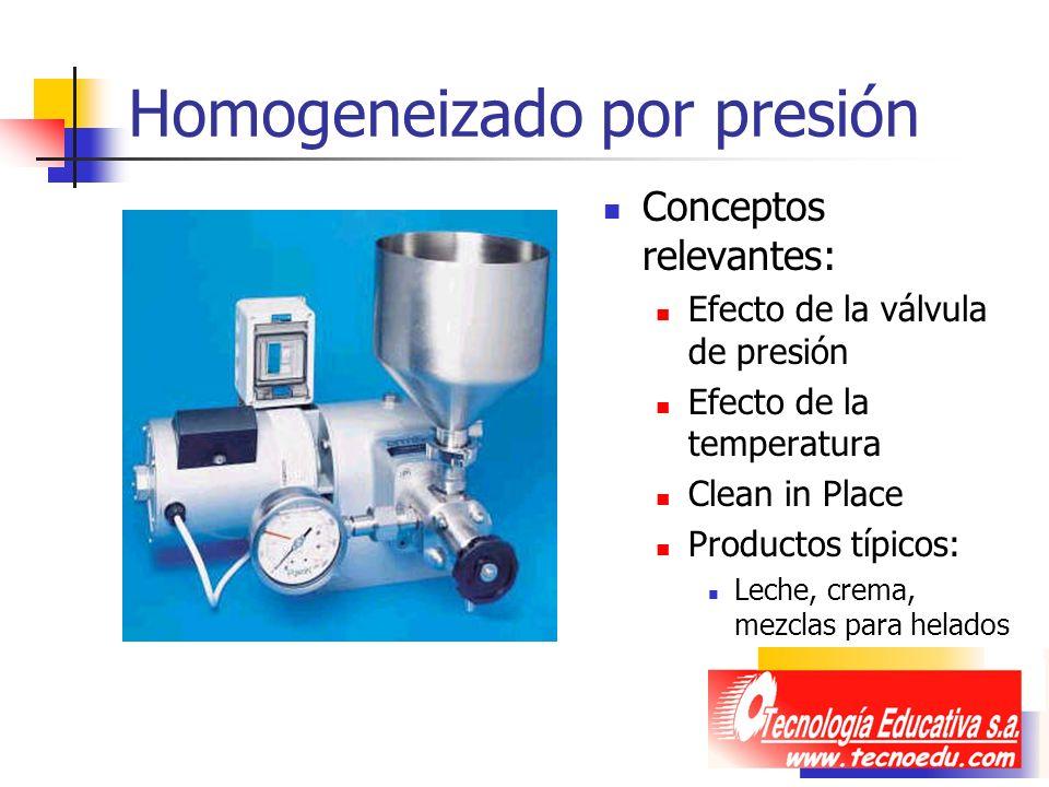 Homogeneizado por presión
