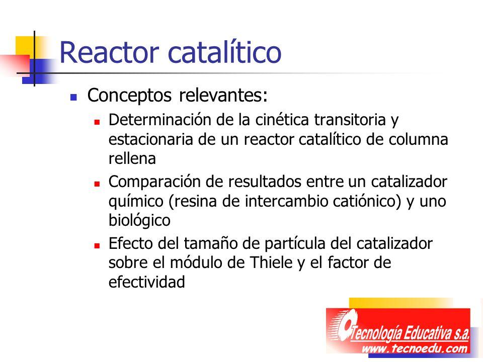 Reactor catalítico Conceptos relevantes: