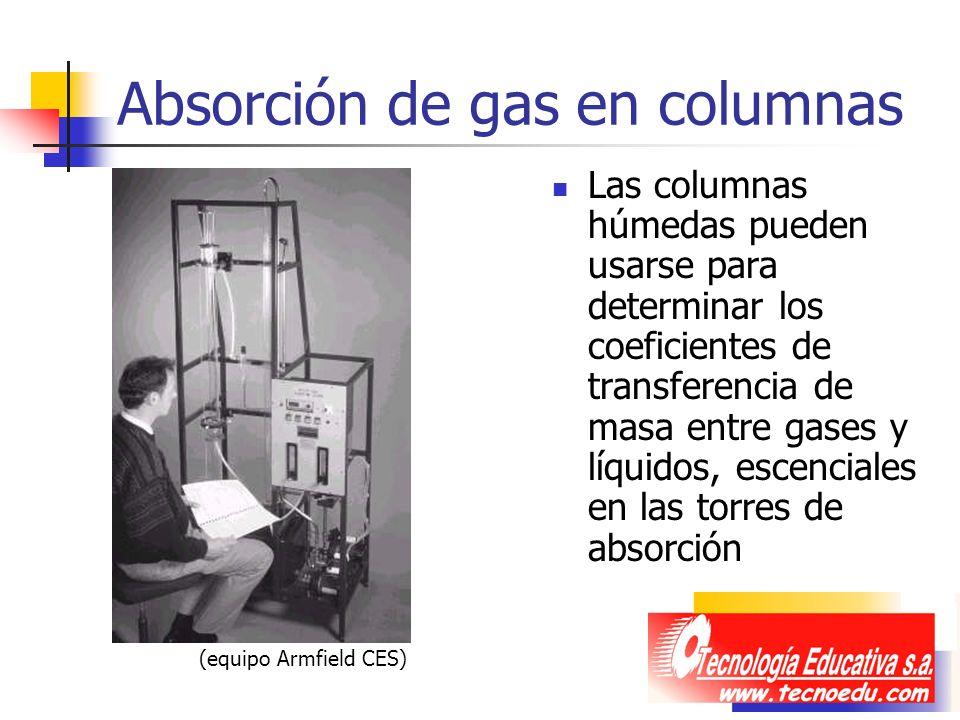 Absorción de gas en columnas