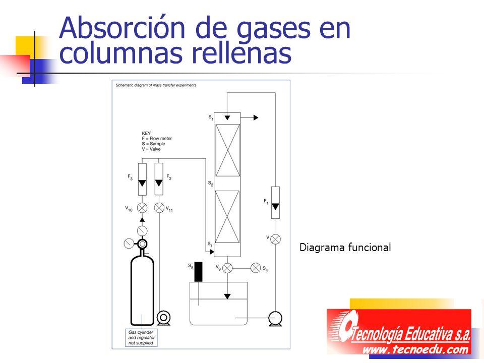 Absorción de gases en columnas rellenas