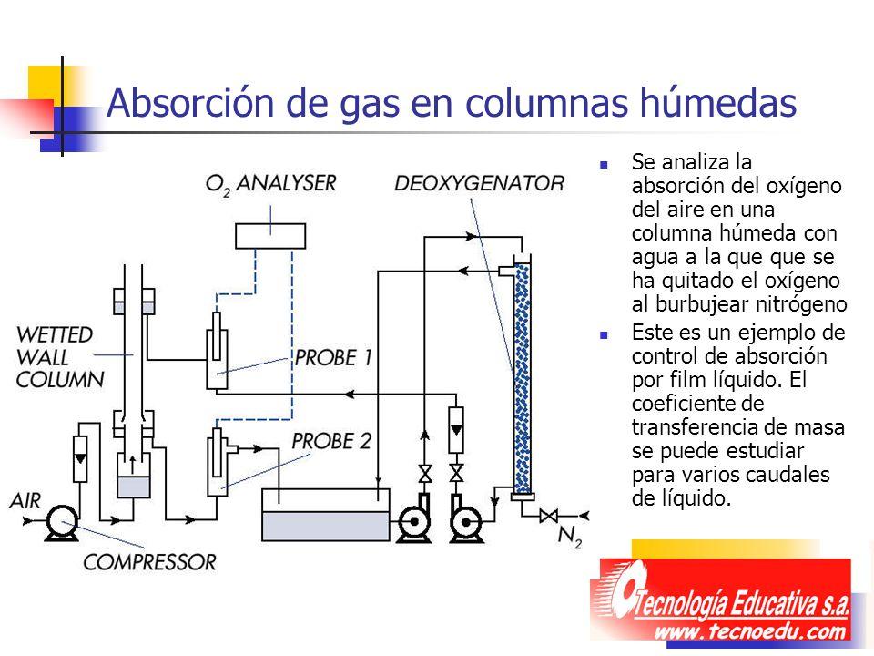 Absorción de gas en columnas húmedas
