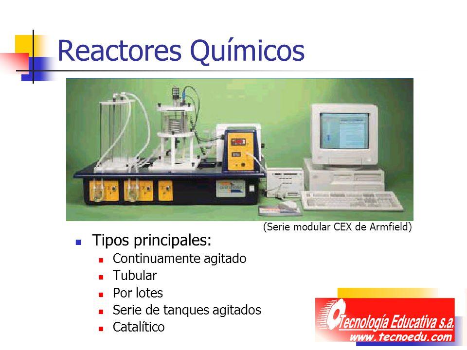 Reactores Químicos Tipos principales: Continuamente agitado Tubular