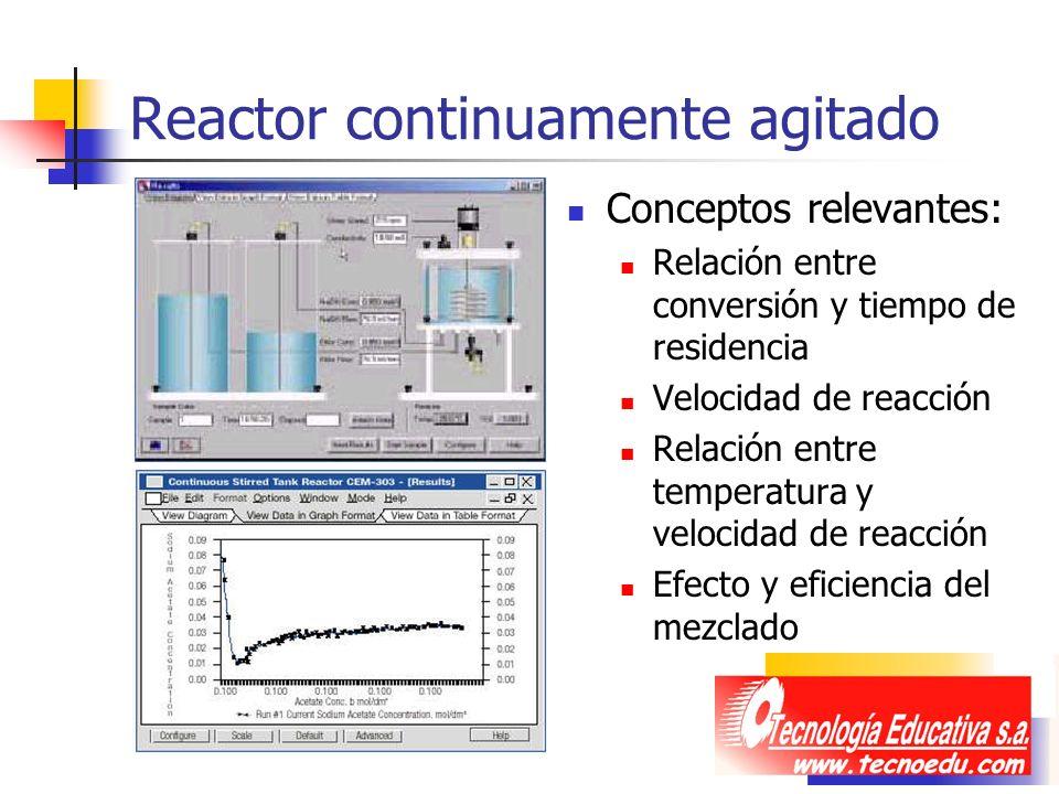 Reactor continuamente agitado