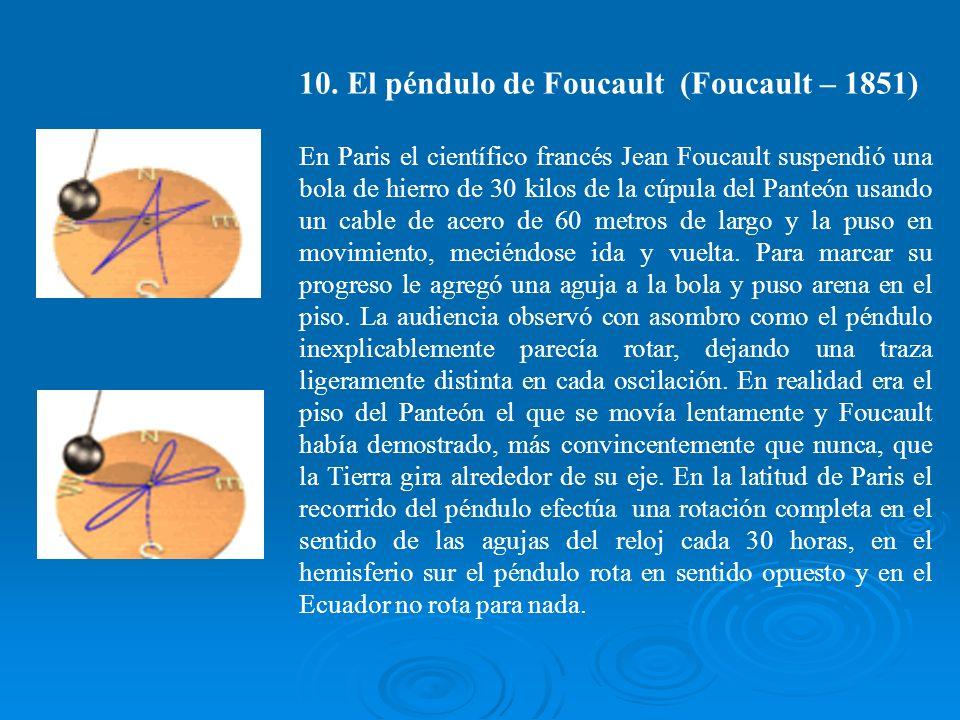 10. El péndulo de Foucault (Foucault – 1851)