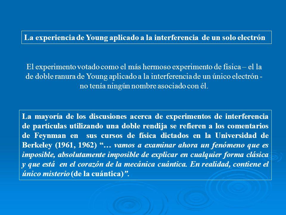La experiencia de Young aplicado a la interferencia de un solo electrón