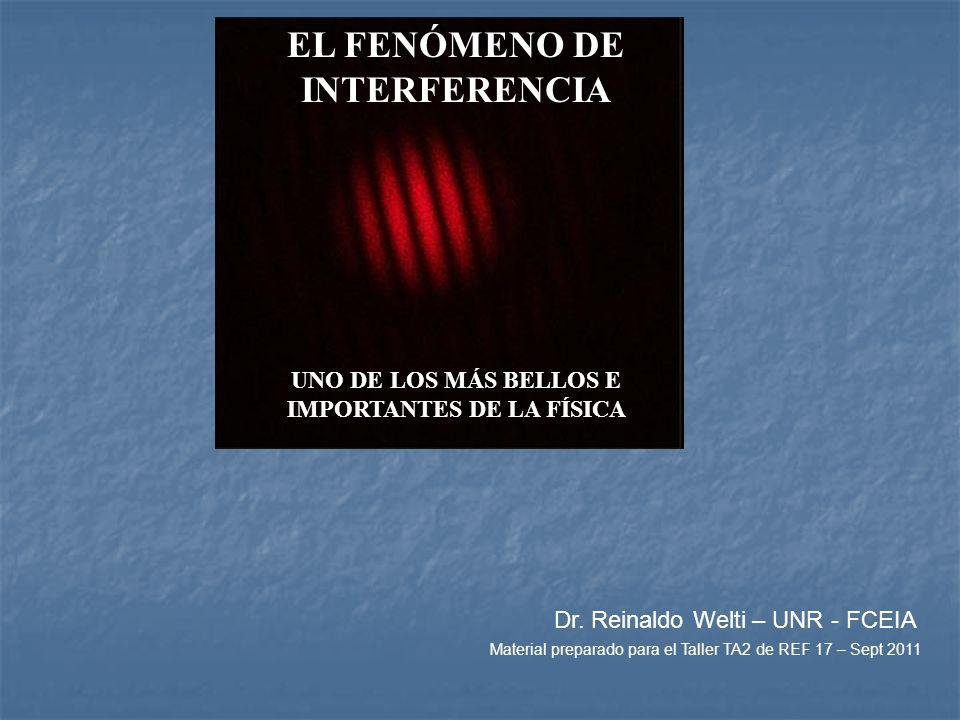 EL FENÓMENO DE INTERFERENCIA