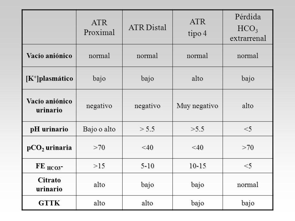 Vacío aniónico urinario