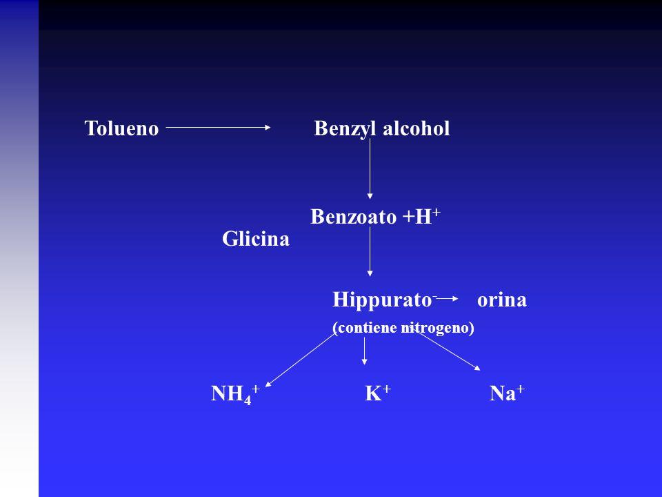 Tolueno Benzyl alcohol