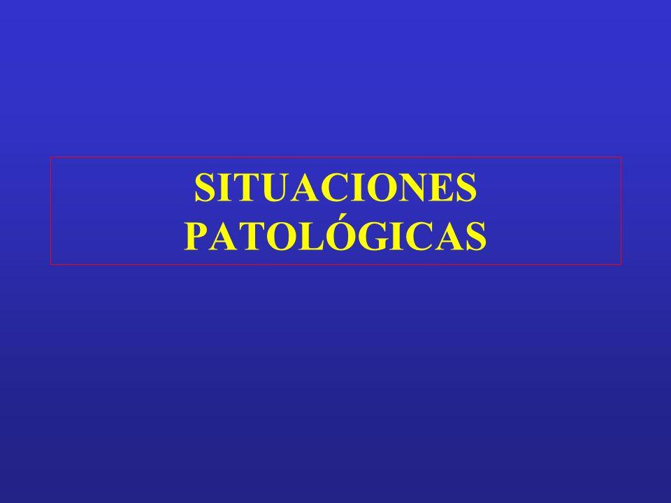 SITUACIONES PATOLÓGICAS