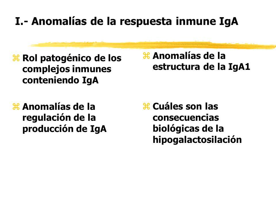 I.- Anomalías de la respuesta inmune IgA