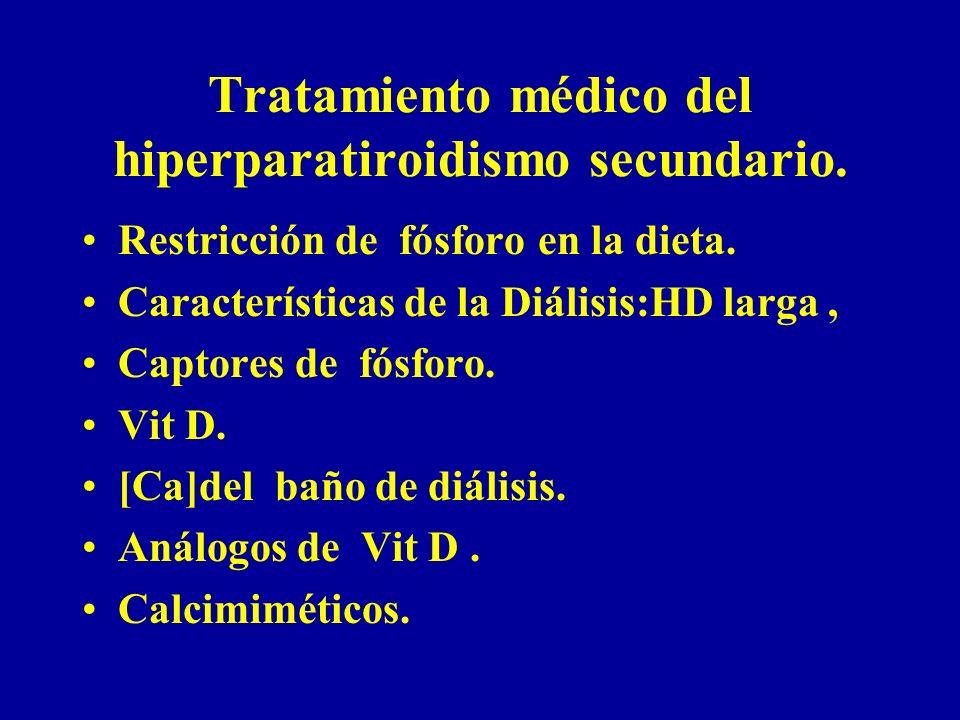 Tratamiento médico del hiperparatiroidismo secundario.